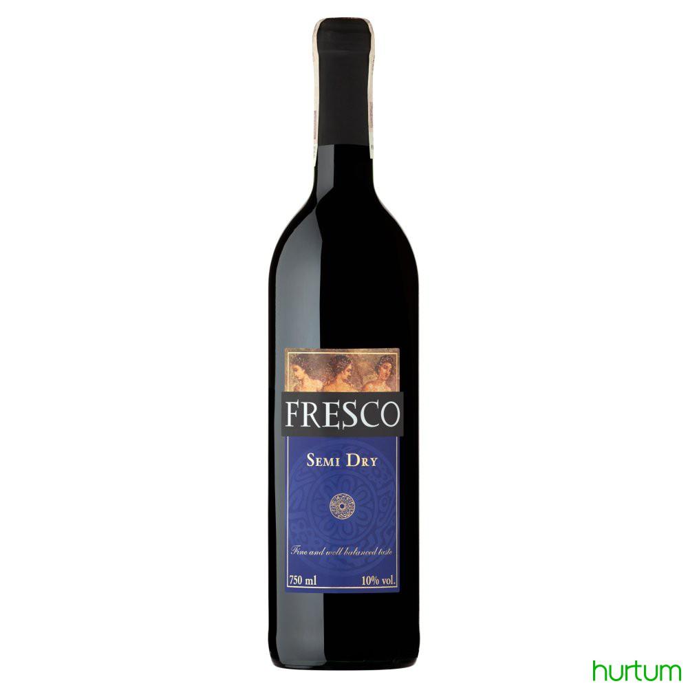 Fresco Wino Czerwone Półwytrawne Polskie 750 Ml W Hurtumpl